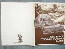 1980 BUICK TRAILER TOWING GUIDE BROCHURE