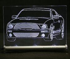 Ford Mustang V Gravur auf LED-Schild Leuchtschild GT500