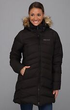 MARMOT BLACK QUEBEC PARKA 700 GOOSE DOWN COAT sz XS/S  ~  VERY WARM ~
