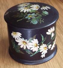 ANTIQUE PAPIER MACHE BOX c1890 - FLOWERS & BUTTERFLY