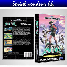 "BOX, CASE ""SHINING FORCE"". MEGADRIVE. BOX + COVER PRINTED. NO GAME. MULTILINGUAL"