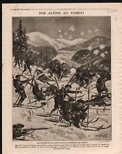 WWI Skieurs Alpins Chasseurs des Vosges Forêt l'Argonne Poilus 1914 ILLUSTRATION
