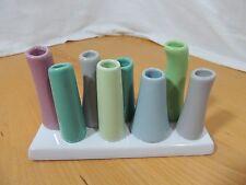 Collet & Holder Pastel Porcelain 8 Tube Bud Vase or Pencil Holder