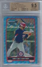 2012 Bryce Harper Bowman Chrome Blue Wave Refractor RC- Graded BGS 9.5 Gem Mint