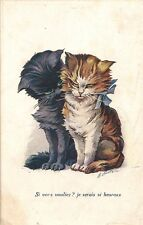 CARTE POSTALE ILLUSTRATEUR A.WUYTS FANTAISIE CHAT CAT SERIE N°86