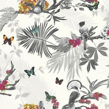 Arthouse Multicoloured Mystical Forest Butterflies and Birds Wallpaper 664802