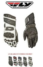 Fly Racing FL2 Gloves Vented Leather Armored Street Mens Womens Motorcycle Glove