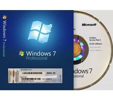 Windows 7 Professional 64 Bit by Microsoft Full Version SP1 w/ COA