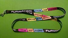 Black multi-colored Funimation Anime Convention promotional badge holder Lanyard