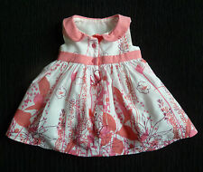 Baby clothes GIRL newborn 0-1m Nutmeg white mid-pink sleeveless dress/underskirt