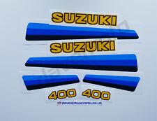 Suzuki PE400Z 1982 Kit de la Etiqueta Engomada Calcomanía Kit TWINSHOCK ENDURO Motocross Clásico