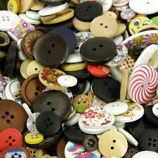 50 x Wooden Buttons - Natural, Rustic, Shabby Chic - Assorted Sizes 5mm-40mm B52