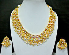 Ethnic Kundan Pearl drops Choker Bridal Jewellery Set   by fashionite13