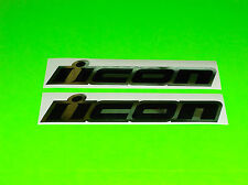 CHROME & BLACK ICON HONDA SUZUKI KAWASAKI MOTORCYCLE DECALS STICKERS