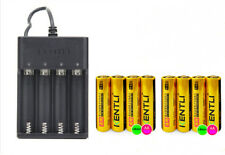8pc 1.5v 2400mWh lithium rechargeable AA battery + charger,Better than Energizer