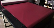 "5 YARD ROLL MAROON FAUX LEATHER AUTO UPHOLSTERY FABRIC VINYL 54""WIDE PLEATHER"