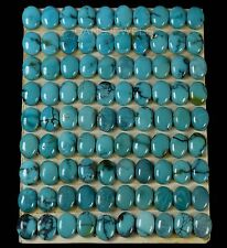 Lot of 90 Stones Carded 8x6mm Natural Turquoise Cabochons 90 Carats