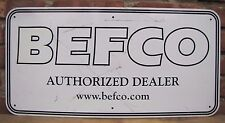 BEFCO Lawn & Ground Equipment Adv Sign Mower Shop Seed Feed Hardware Store