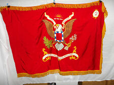 flag293 1960's US Army Flag 32nd Artillery Regiment 1st Division 2nd Battalion