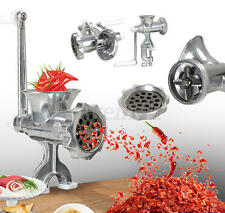 NEW Kitchen Hand Operated Meat Grinder Sausage Maker Filler Mincer Stuffer