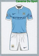 224 HOME KIT SHIRT MANCHESTER CITY FC STICKER CHAMPIONS LEAGUE 2016 TOPPS