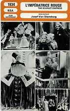 Fiche Monsieur Cinéma. L'impératrice rouge. U.S.A. 1934 Josef Von Stenberg
