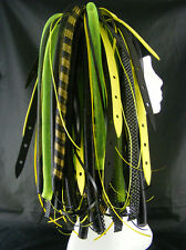 CYBERLOXSHOP NEON YELLOWWEB CYBERLOX CYBER HAIR FALLS DREADS RAVE YELLOW BLACK