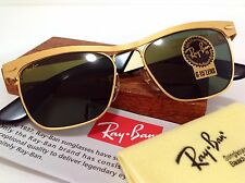 NEW B&L RAY BAN USA WAYFARER METAL *LIMITED EDITION* MATTE GOLD G15 VTG W/ CASE