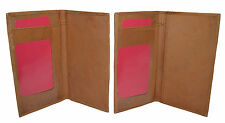 CHECKBOOK COVERS PLAIN SET OF 2 ALL TAN LEATHER NEW GENUINE LEATHER