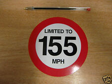 LIMITED TO 155 MPH - 120mm Decal - car / van / truck sticker