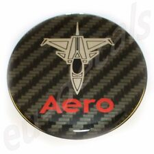 50mm/2.00inc Carbon Red Chrome SAAB JET Aero Hood Emblem Badge 9-5 9-3 3D decal