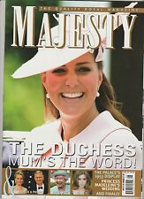 """MAJESTY"" THE QUALITY ROYAL MAGAZINE VOL.34 #8 2013,THE DUCHESS MUM'S THE WORD!"
