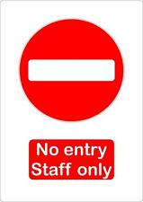 no entry staff only sticker vinyl shop office door decal macbook self adhesive
