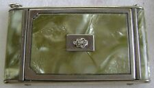 Antique Girey Mother of Pearl Makeup Compact - Green Marble Look