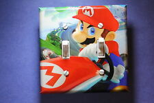 Mario Kart Video Game Double Light Switch Cover gamer room decor nintendo wii u