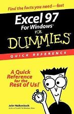 Excel 97 for Windows for Dummies Quick Reference