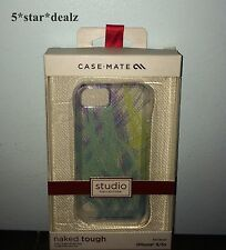 Case-Mate Naked Tough Case For iPhone 5/5S/SE Clear/Blue/Purple/Green/Yellow NEW