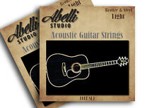 2 Sets Abelli Studio Bronze & Steel Acoustic Guitar Strings Set, 12-52 Light