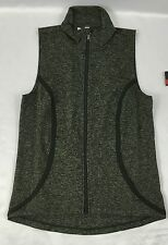 Under Armour Women's Athletic Vest Full Zip Army Green White Print Size M