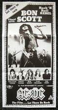 AC/DC REPRO 1980 LET THERE BE ROCK FILM MOVIE PROMO POSTER BON SCOTT