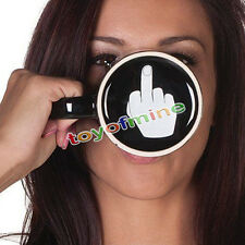 NEW Ceramic Middle Finger Coffee Cup Personality Office Gift Have A Nice Day Mug