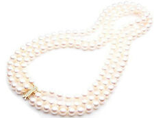 $12,999 Pacific Pearls® AAA 7.5-8mm Japanese Akoya Saltwater Pearl Necklace