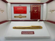 Cartier Pasha 1993 Limited Edition 18K Gold Plated Fountain Pen S/N:01549 New