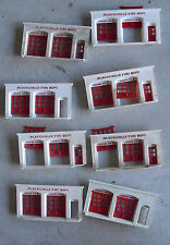 Lot of 8 Vintage O Scale Plasticville Fire Department Front Wall Sections