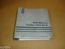 1979 Mercury Dealer Album Facts guide book Marquis Cougar Zephyr Bobcat Capri