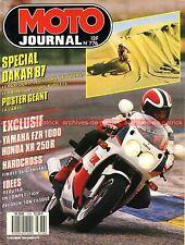 MOTO JOURNAL 776 YAMAHA FZR 1000 ; HONDA XR 250 CR ; PARIS DAKAR ; 1986 (1)