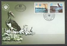 Yugoslavia 2001 Birds/Herons/Storks/Lakes 2v FDC s2698