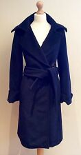 ZARA NAVY BLUE COAT BNWTS BELT SIZE L UK 12