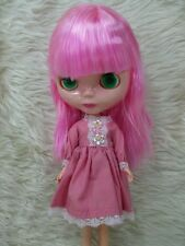 Big Head Blythe Clone 4 Color Changing Eyes Basaak Doll - pink hair