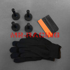 Car Wrap Vinyl Tools Kit Seude Scratchfree Squeegee Seamless Gloves 4 Magnets